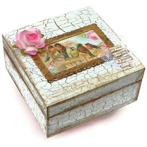 My Soul Is Singing A Joyous Song Trinket Box So Shabby Chic