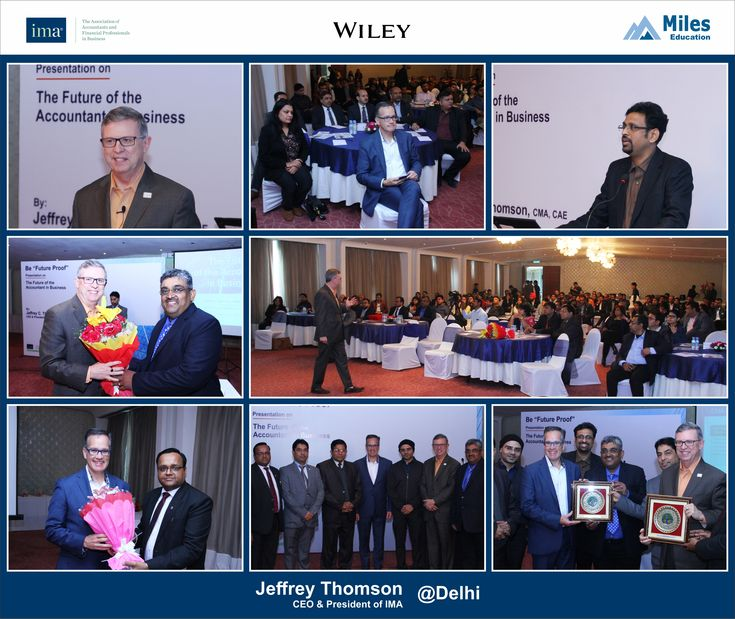"""Miles Education along with IMA hosted public and corporate events on """"The Future of the Accountant in Business"""" conducted by Mr. Jeffrey Thomson, the President & CEO of IMA, US. The sessions were hosted in Pune, Bangalore, Hyderabad, Chennai & Delhi  Visit:http://wiley.milescma.com/Jeff_Jan18"""