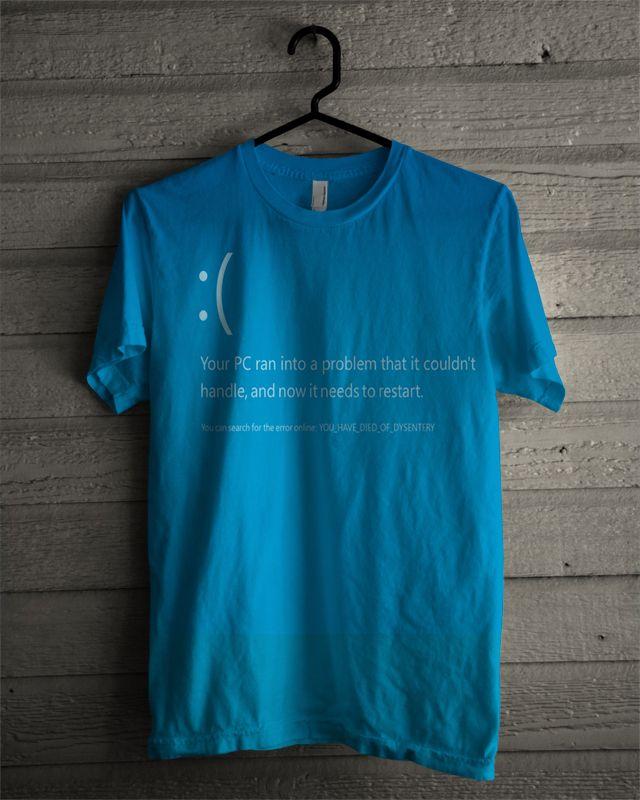 T-shirt Blue Screen