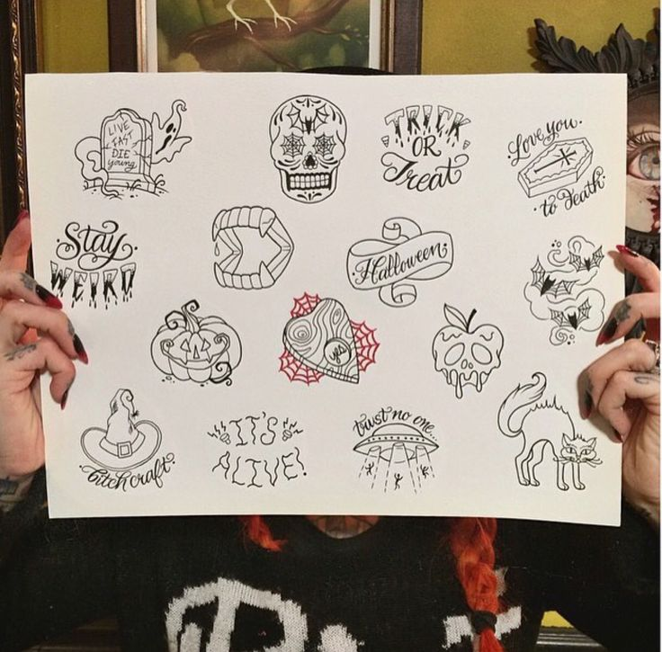 Tattoo flash by Megan Massacre