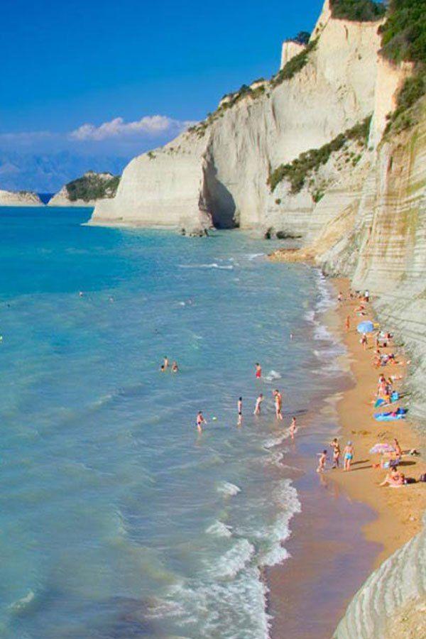 Dasia Beach, Island of Corfu, Greece