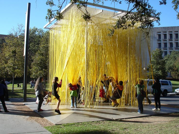 Spaghetti jungle by Jesus Rafael Soto at the Blanton Museum of Art, Houston, Texas photos via about Austin