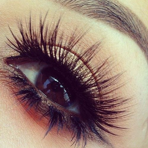 Lush, sensual look: false #Eyelashes are full on top with Individual Lashes accenting the bottom.