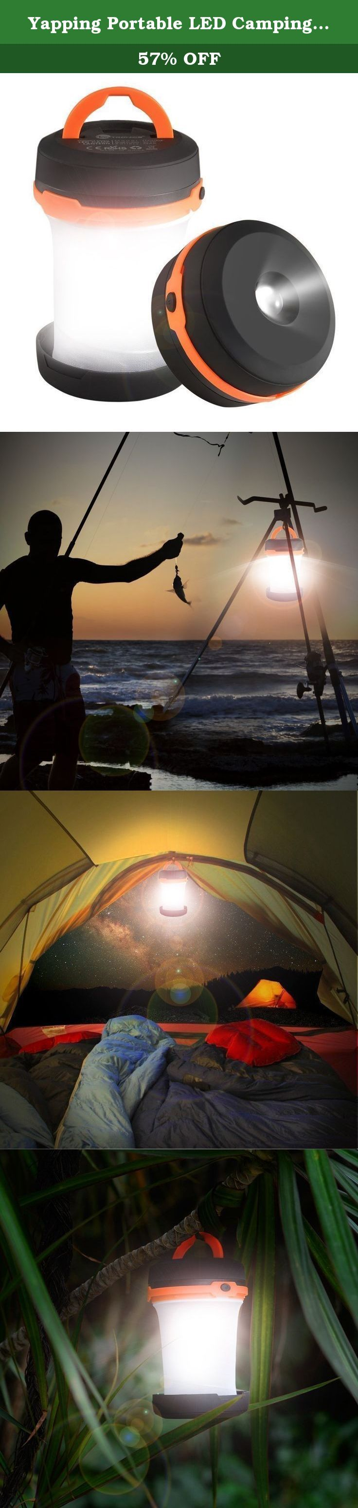 Yapping Portable LED Camping Lamp Mini Flashlight Torch Light Tent Lamp Battery Operated for Camping Hiking Home Emergencies orange. The lantern is suitable for indoors and outdoors,Hiking,Camping,Emergencies,Hurricanes,Outages,Home,office,etc. Why choose us about the lantern? 1.Light But Durable,Easy to Carry The last thing you need is another gadget slowing you down. Our product weights just 109g and can be collapsed to half of its length into a convenient to carry puck-like shape. The...