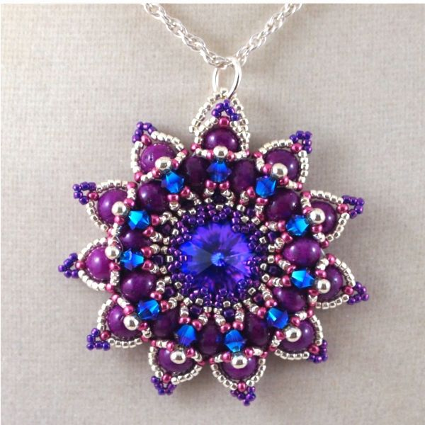 134 best bead pendant images on pinterest beaded jewelry my version of sabine lipperts pattern granada use miscellaneous bead collection to create a pendent aloadofball Image collections