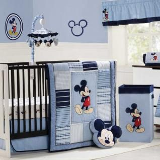 Mickey Mouse Classically Cute Bedding by Kidsline - Mickey Baby Crib Bedding - d224bed