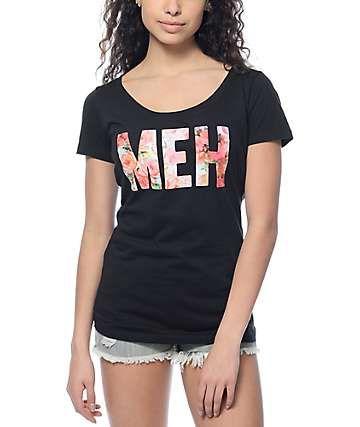 Empyre Meh Roses Black T-Shirt