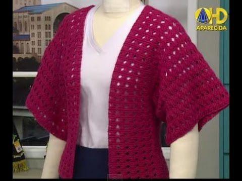 Burda Kimono em Tricô com Cristina Sasaki - YouTube