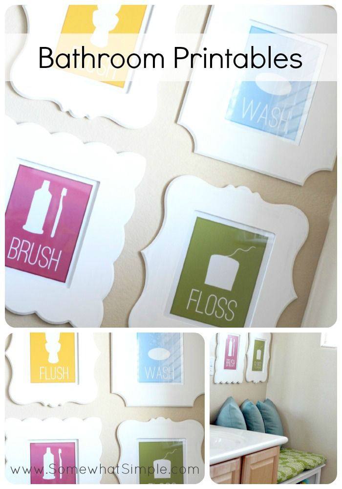 Free Printable Bathroom Art Wall Decor