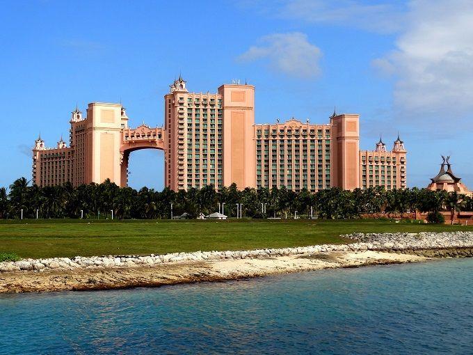 バハマの主都ナッソー「アトランティス・パラダイスアイランド」にて。Atlantis Paradise Island in Nassau, The Bahamas.