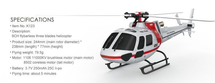 XK AS350 K123-B 6CH 3D 6G System Brushless Motor BNF RC Helicopter for Sale Online | Tomtop  toys aiplanes quadcopters drone
