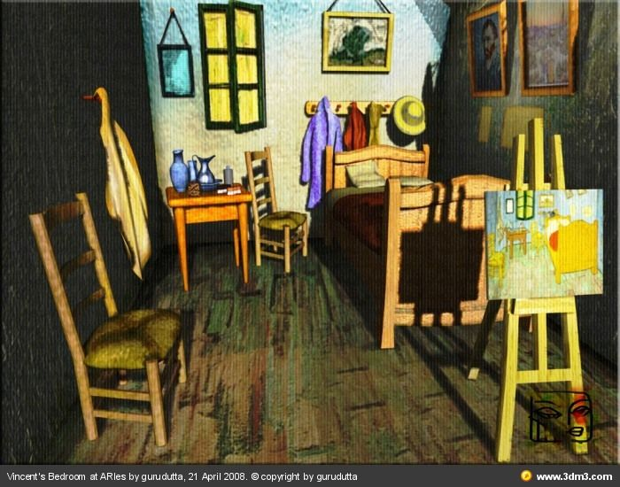 Bedroom in arles vincent van gogh new version by for Bedroom in arles