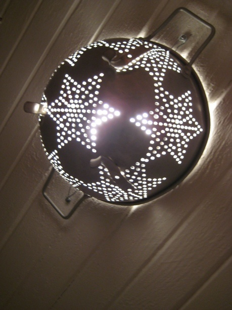 25 best ideas about colander light on pinterest - Diy ceiling light cover ...