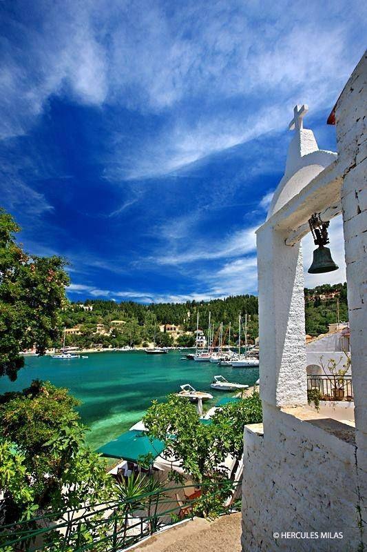 Charm of Lakka village , Paxos island, ionian sea, Greece
