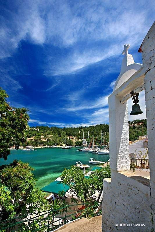 Charm of Lakka village , Paxos island, ionian sea, Greece