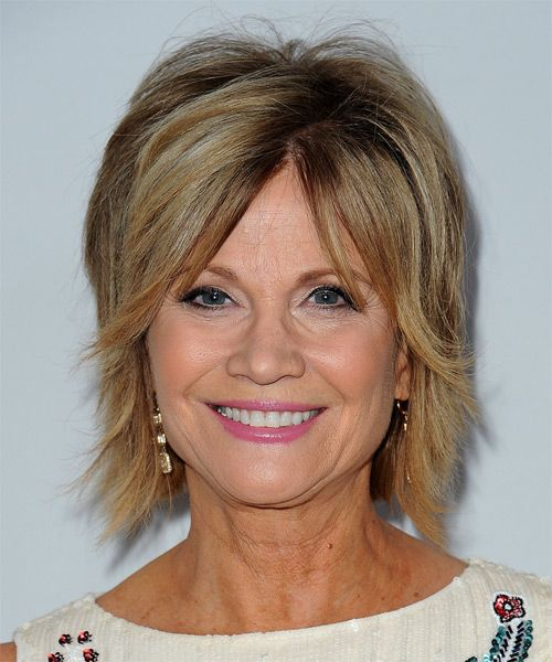 Markie Post Short Straight Hairstyle. Try on this hairstyle and view styling steps! http://www.thehairstyler.com/hairstyles/casual/short/straight/markie-post