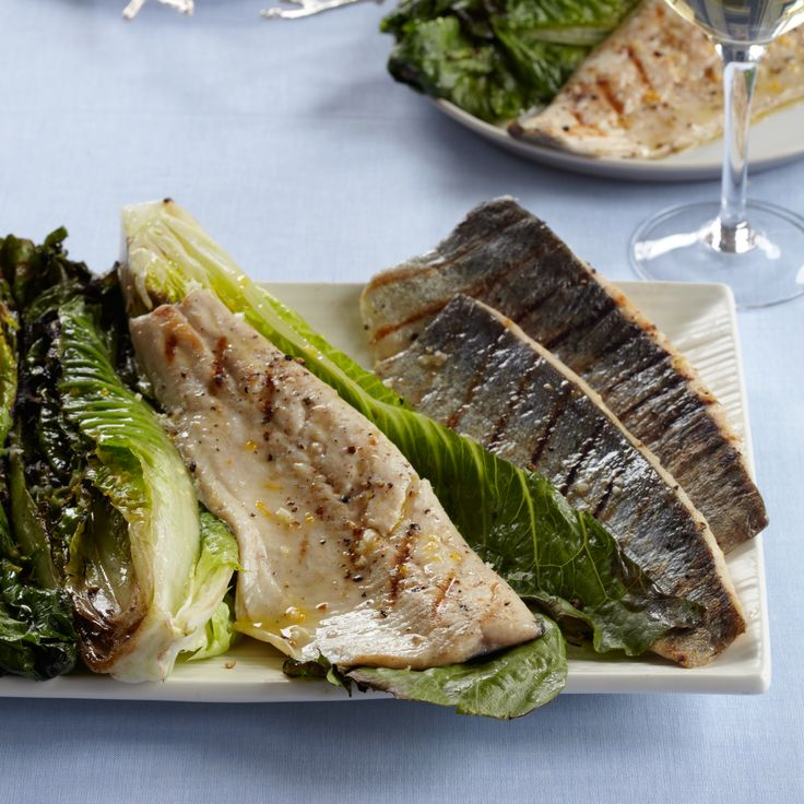 Grilled Trout with Grilled Romaine Salad | Food