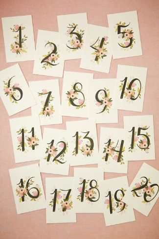 Love these table cards by Rifle and Paper Co.