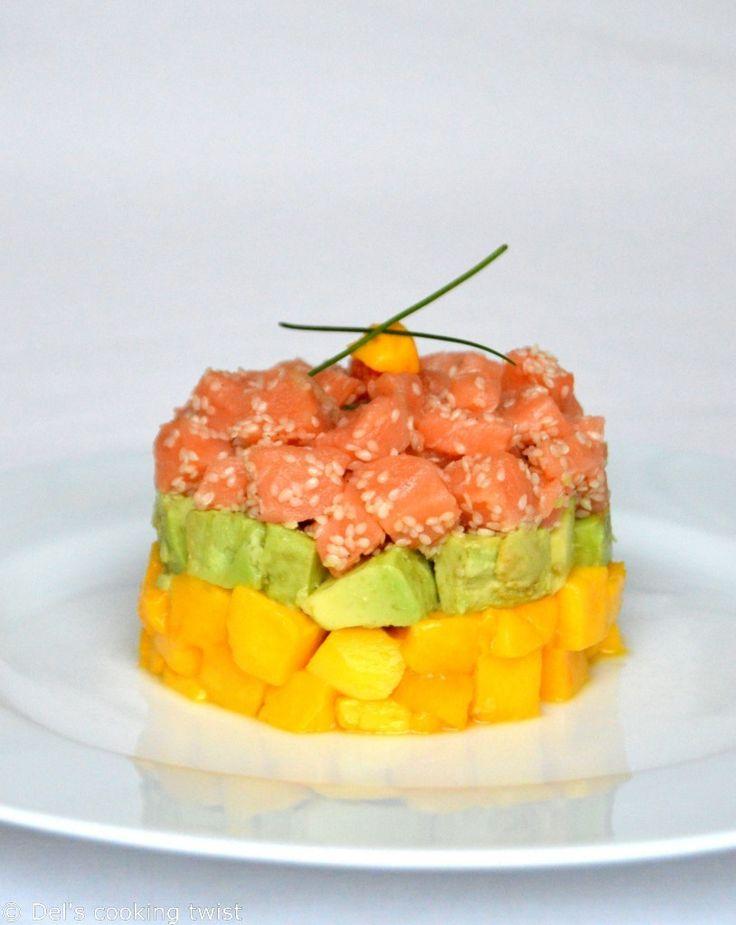 Tartare de saumon, avocat et mangue | Del's cooking twist Plus