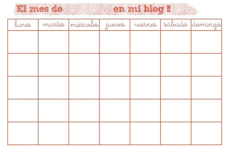 De lunares y naranjas: Imprimible: un planificador mensual ...
