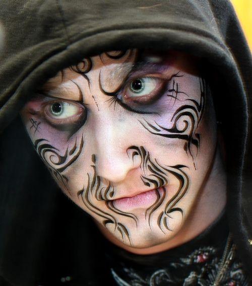 252 best images about face painting on pinterest glitter - Pinturas para halloween ...