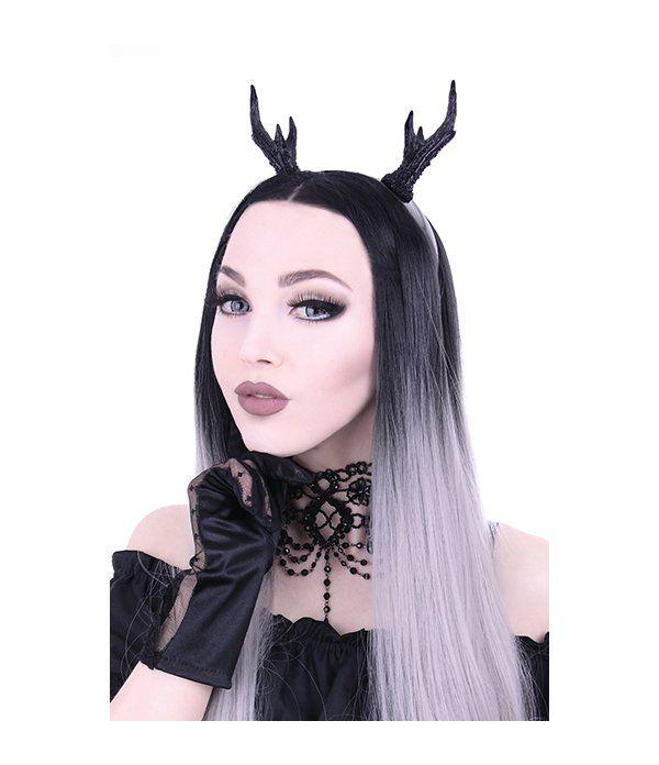Serre-tête Bois de Cerf Gothique en vente chez Freaky Pink. Boutique en ligne française de mode alternative gothique, kawaii, geek, tattoo.