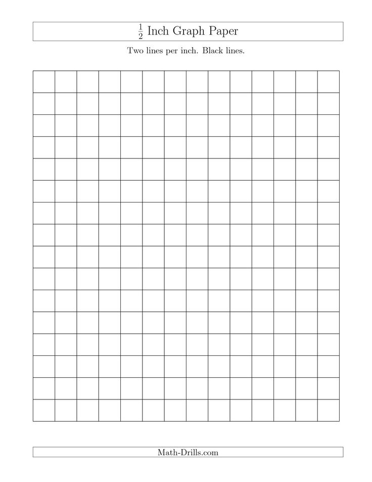 the 1  2 inch graph paper with black lines  a  math