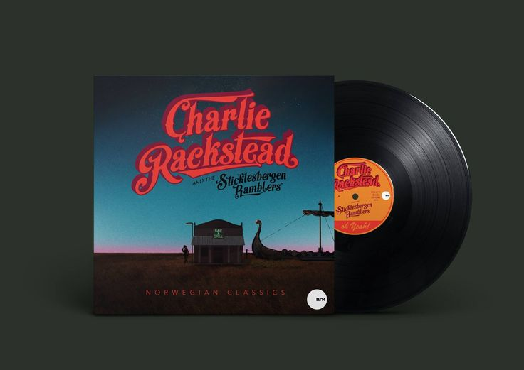 LP cover - Charlie Rackstead and the Sticklesbergen Ramblers. #vinyl #coverart #countrymusic #norwegianmusic #illustration