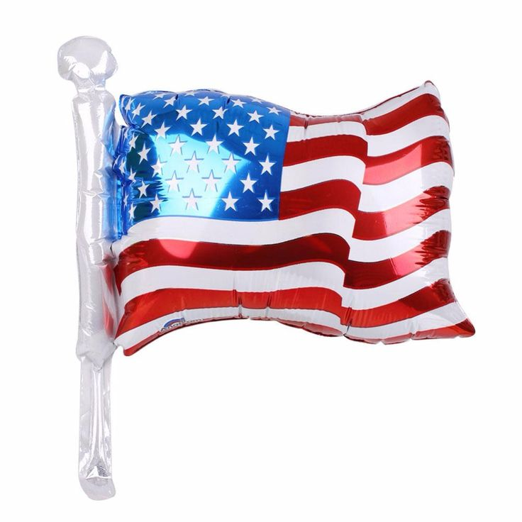 American Flag Style Aluminum Foil Balloon for US Independence Day Home Bar Decor Party Supplies #Affiliate