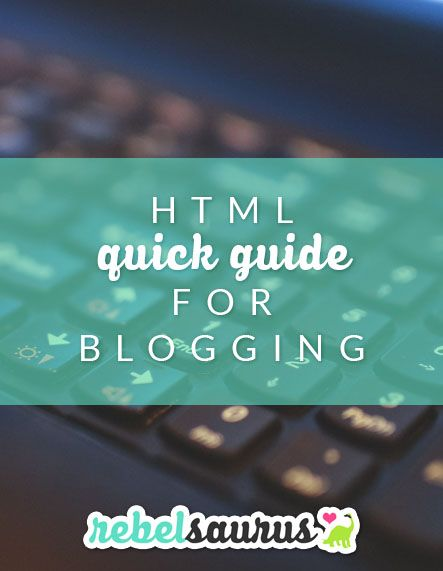 HTML is a coding language used to create webpages. This is the stuff that can help you put pretty pictures and things on your blog, whether it's images, links, or more. If you're using software like Wordpress, their visual editor does a pretty good job doing basic HTML for you, but sometimes it's just nice to know what's going on so you can add some yourself or copy it somewhere else like a widget where there isn't a visual editor.