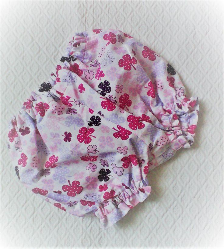 """Cadeau de naissance fille ,bloomer,en ;coton """" trèfles a 4 feuilles """" ,dégradé de rose ,et fuchsia. : Mode Bébé par kate27"""