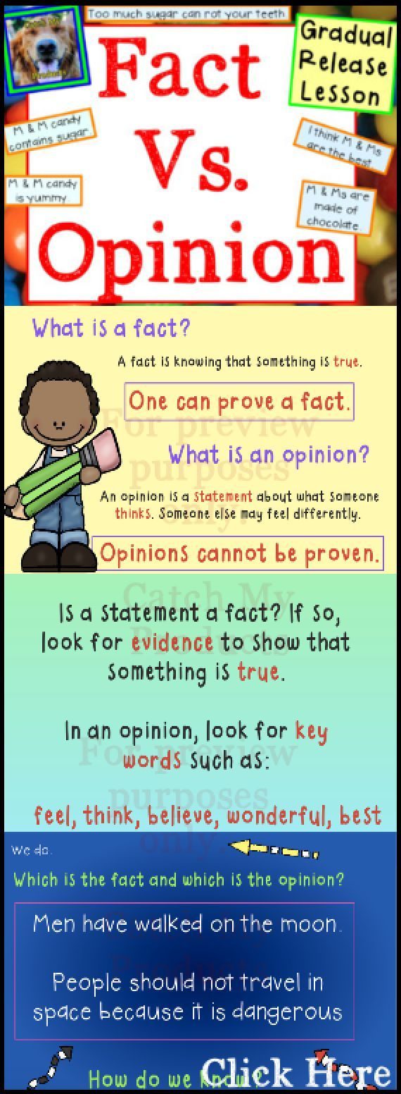 Teach fact and opinion with the gradual release teaching method!