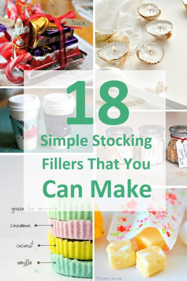 18 Simple Stocking Fillers That You Can Make #diy #christmas #craft