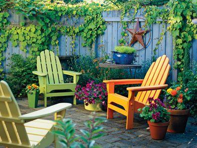 Cozy backyard spaces