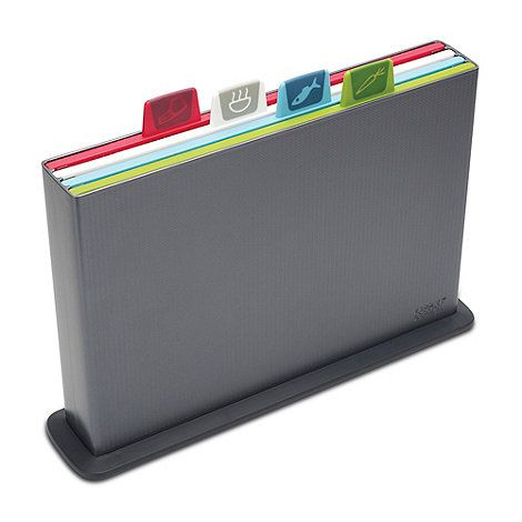 £ 50 Joseph Joseph's 'Index' chopping board sets combine innovative functionality with a strong design aesthetic that makes them a staple of many kitchen worktops.