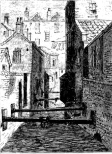 The Fleet Ditch in 1844.