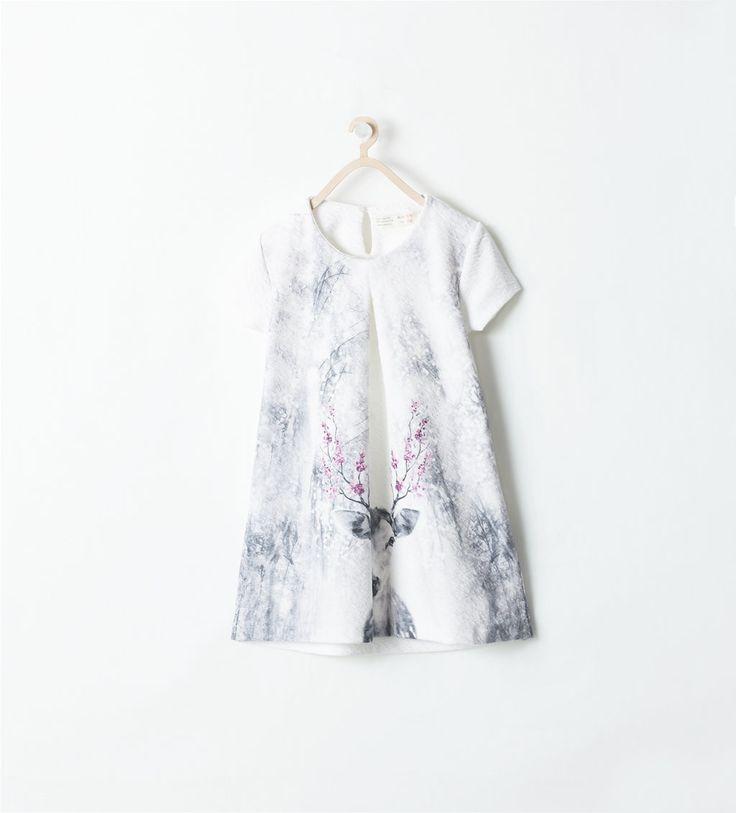 Image 1 of JACQUARD DEER DRESS from Zara