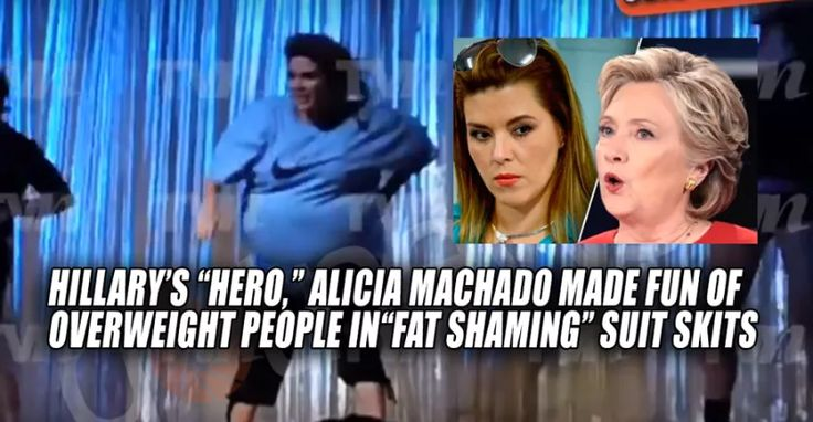 HYPOCRITE Alicia Machado Played 600-Pound Character In Fat Suit, Then Complained About Fat-Shaming (9/28/16)