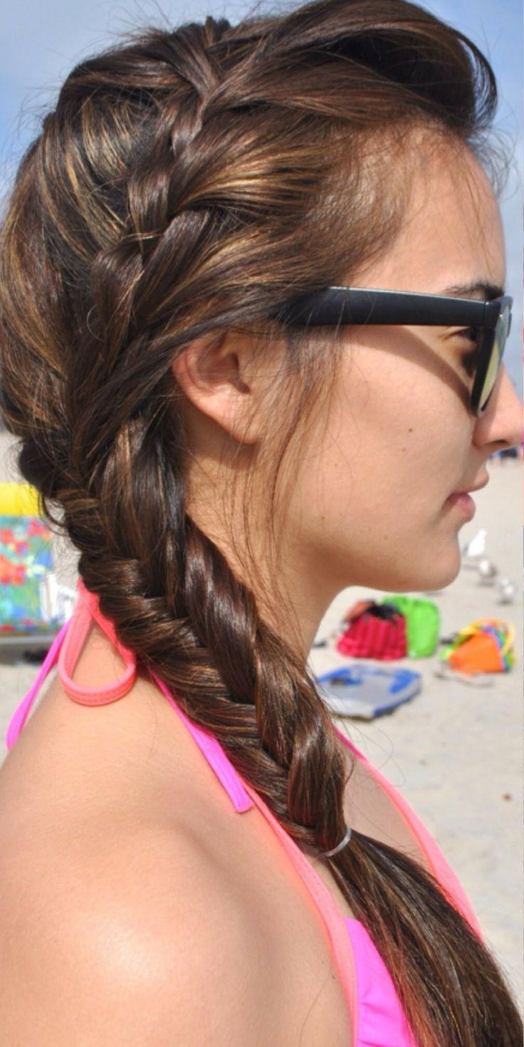 Frisur seitlich