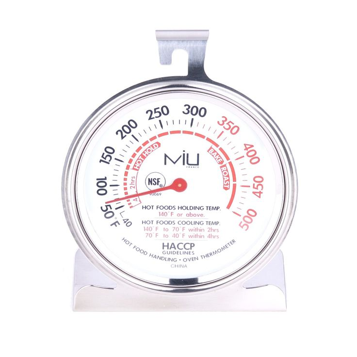 Miu Stainless Steel (Silver) Oven Thermometer (miu oven thermometer)