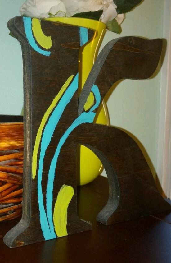Stained Wooded Scroll Initial by TheKiltedBear on Etsy