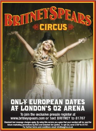 Britney SPears, O2 Arena, London, giugno 2009