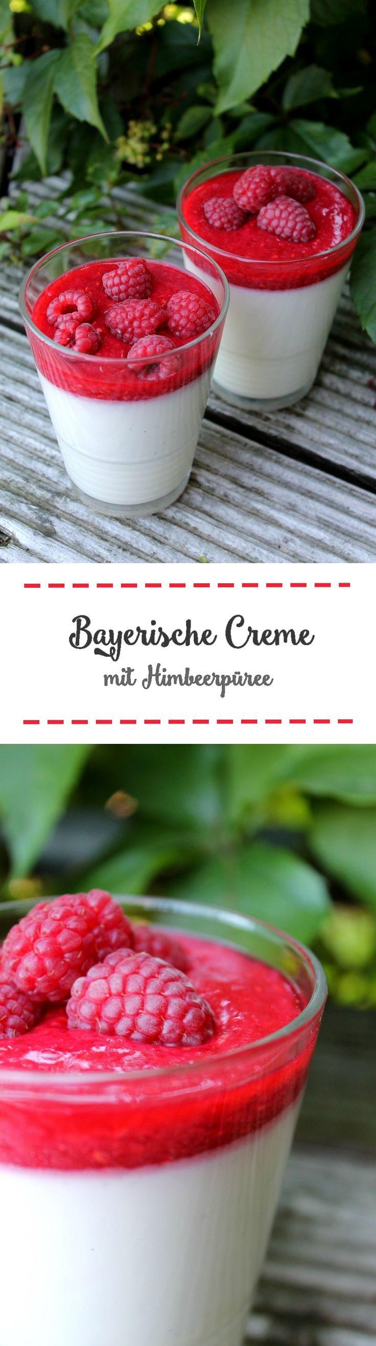 Bayerische Creme mit Himbeerpüree