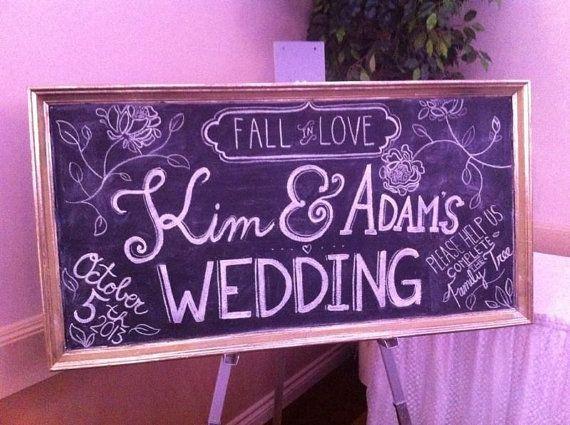 Custom Wedding Chalk Board Design