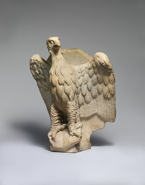 Giovanni Pisano (Italy, 1240-1319). Lectern for the Reading of the Gospels with the Eagle of Saint John the Evangelist, ca. 1301, with later additions. The Metropolitan Museum of Art, New York. Rogers Fund, 1918 (18.70.28)