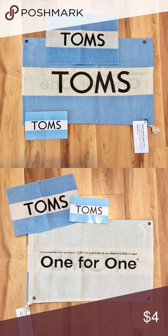 TOMS Bag, Flag and Sticker Brand new TOMS bag, flag and sticker. Bundle for more savings :). TOMS Bags Travel Bags