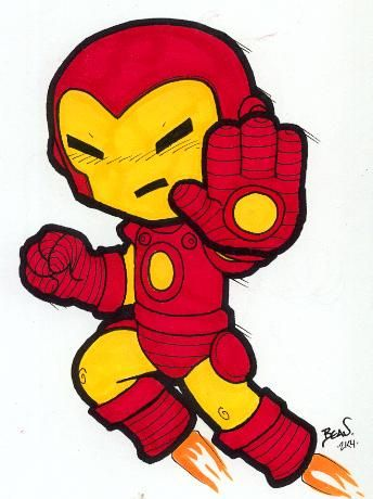 Chibi-Iron Man. by hedbonstudios.deviantart.com on @deviantART