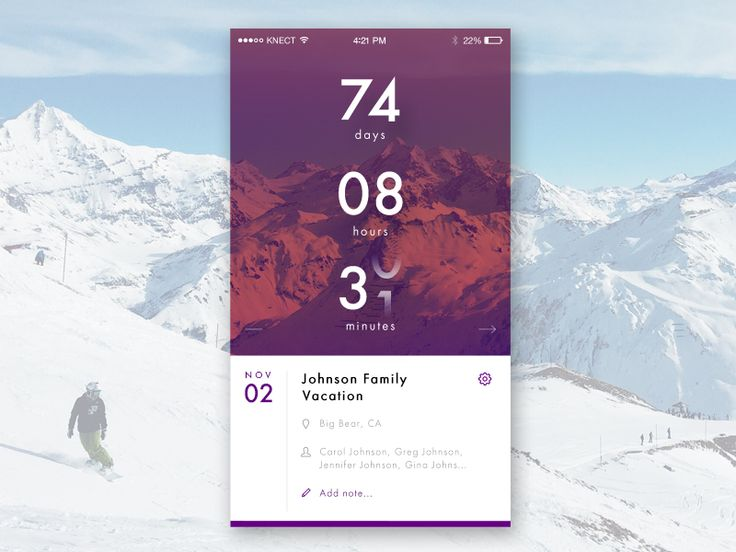 Daily UI 14 - Countdown Timer by Justin Jones