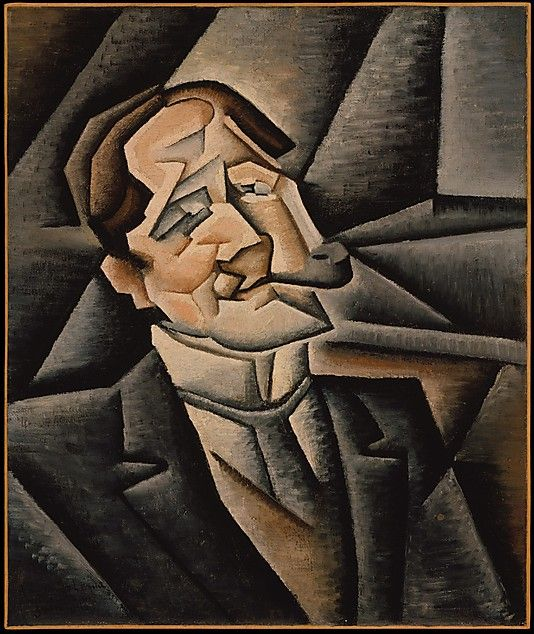 Juan Gris (Spanish, Madrid 1887–1927 Boulogne-sur-Seine) - Juan Legua, 1911, Oil on canvas, 21 5/8 x 18 1/8 in. (54.9 x 46 cm). The Metropolitan Museum of Art.