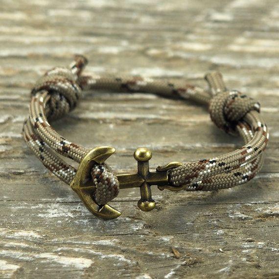 Nautical Bracelet - Paracord Bracelet - Anchor Bracelet - Mens Anchor Bracelet…